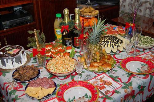 какое угощение традиционно подавалось к новогоднему столу в россии до реформ петра i